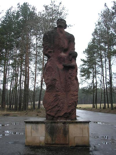 Monument of Jewish Mother with Child - Sobibor Concentration Camp