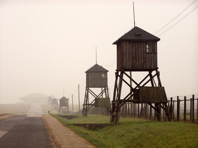 Guard Towers in Majdenk - Majdanek Concentration Camp