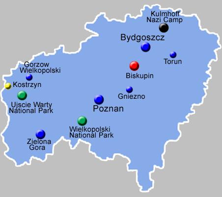 Central West Poland Map  PolandGuide