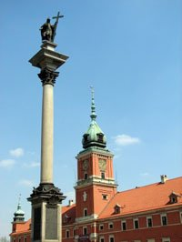Warsaw Sights - Sigmund Column and Royal Palace
