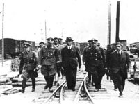 Himmler visits the Auschwitz III