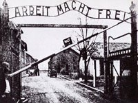 Auschwitz Gate during Word War II