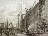 Prisoner's sketch of the factory