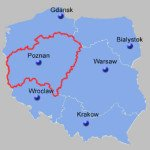Central – West Poland Map