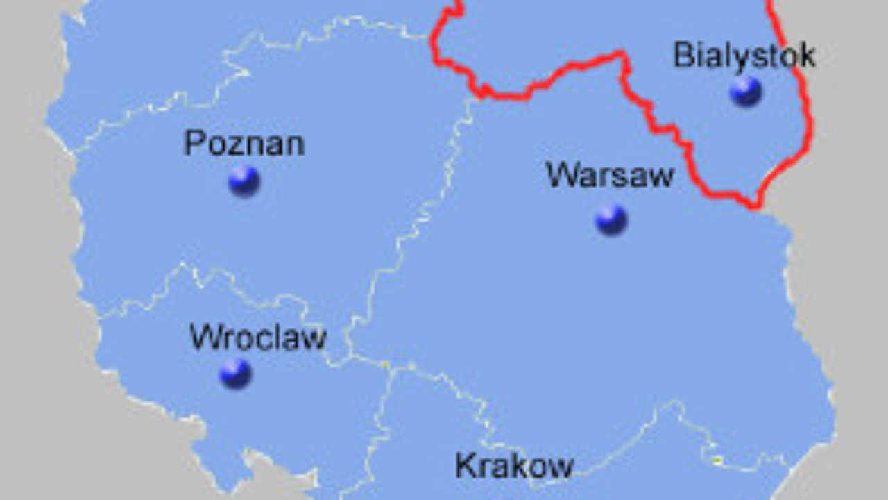 North East Poland Map Poland Guide