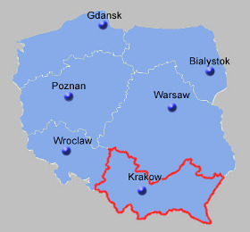 Czestochowa Poland Map.South East Poland Map Poland Guide