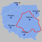 Central East Poland Map